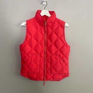J. Crew Bright Pink Quilted Puffer Vest